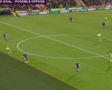Gol anulado en el Norwich vs Tottemham | Captura: SkySport